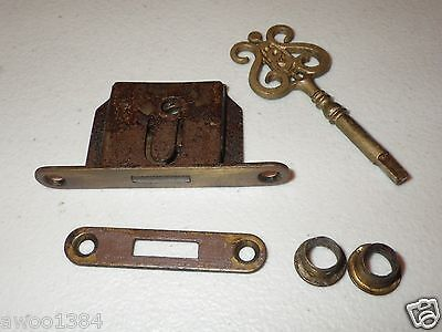 Rare Genuine Antique Vtg Old Original Steinway and & Sons Piano Lock and Key