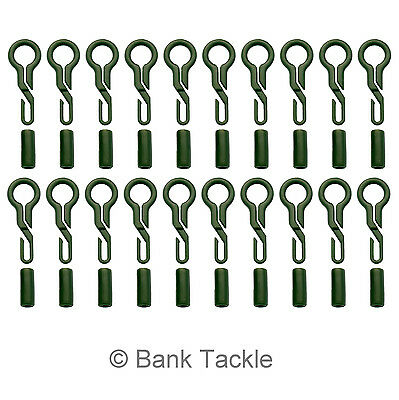20X Back Lead Clips Army Green Carp Fishing Tackle Lead Weight Conversion  UKPL