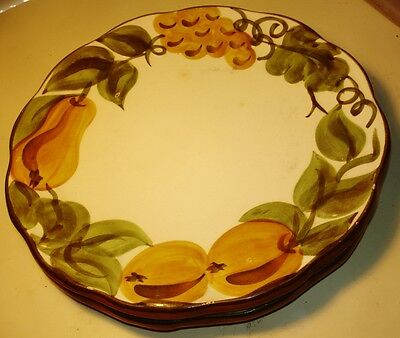 Stangl-Sculptured Fruit-Hand Painted Dinner Plate-1966-Trenton-AS-IS-NO RETURNS