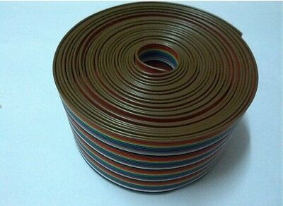 4M 40 Pin flat cable wire Color Rainbow Ribbon Cable wire Rainbow Cable