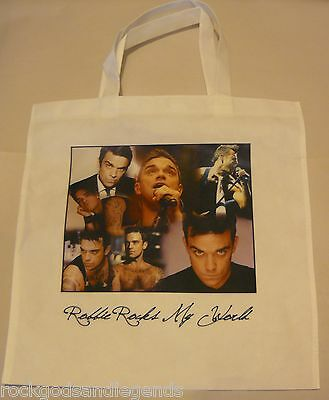ROBBIE WILLIAMS Collage Tote Bag