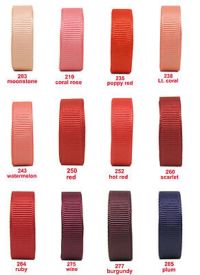 "10y 38mm 1 1/2"" Coral Red Burgundy Premium Grosgrain Ribbon ECO Craft Gift"