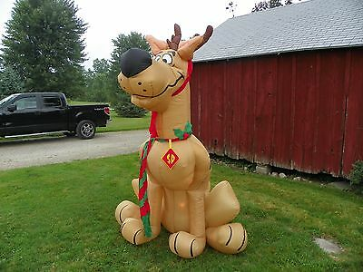 CHRISTMAS AIRBLOWN SCOOBY DOO REINDEER 8 FT TALL LIGHTED INFLATABLE YARD DECOR