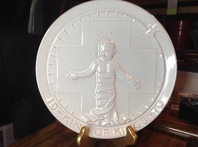 """1970 Frankoma Pottery Baby Jesus Christmas Collectors Plate """"King of Kings"""""""