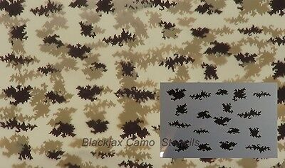 "Camo Digital Small Pattern 04 (1) 12""x9"" stencil,Duckboat, Ammo Can,Weapons,Bows"