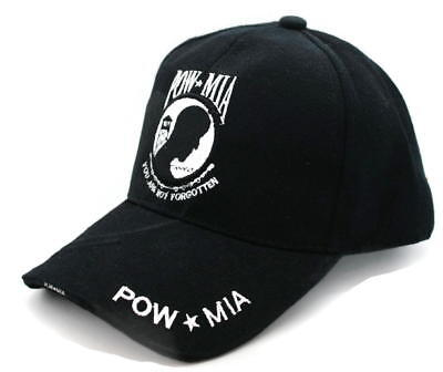 HAT - POW-MIA Adjustable Ball Cap detailed embroidery Bill   Crown FREE  SHIPPING c07c1fe7d046