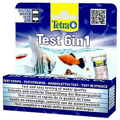 Tetra Aquarium Test 6 In 1 Tropical Water Freshwater 25 Strip Pack Tank L42