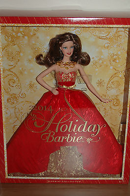 2014 Exclusive BRUNETTE HOLIDAY Barbie - BRAND NEW RELEASE