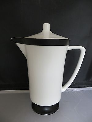 Rare!   SEYEI FINE CHINA Coffee Pot   Black & White Pattern  Simple yet elegant!