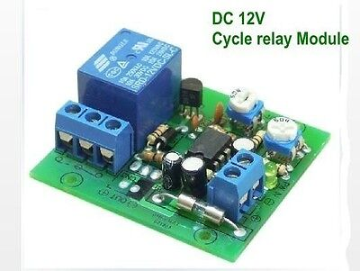 DC12V Cycle relay Cycle time switches delay relay Pulse width Modulation Modules