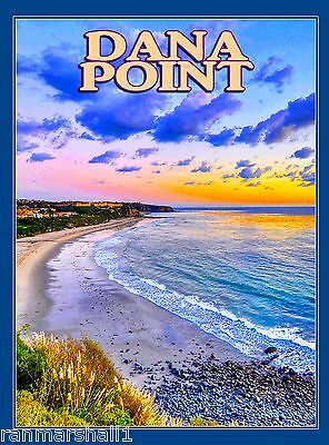 Dana Point Beach Southern California United States Travel Advertisement Poster