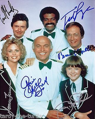 The Love Boat Cast  8 x 10 Autograph Reprint Gavin MacLeod Bernie Kopell +4