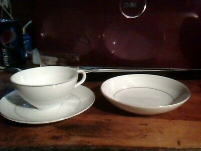 Vintage Embassy Touch of Gold Teacup Set for SIX,White