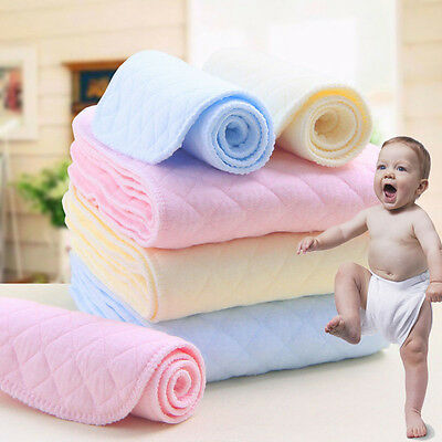 Diaper Insert Cloth New Baby Reusable Nappy Newborn Cotton nappies Set Lot UP04