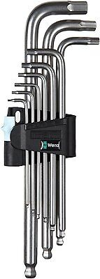 Wera Tools Extra Long Stainless Steel Hex Plus - Ball Allen Keys Set + Holder