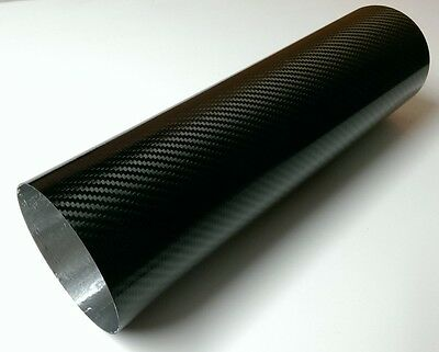 Motorcycle Exhaust Carbon Fibre Replacement Sleeve Round Oval 380mm x 110mm
