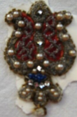 1920's APPLIQUE - BEADS - PEARLS-   GORGEOUS DETAILS