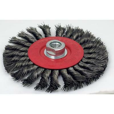 6 x 5/8-11 AH; Knot Wire Wheel Brush