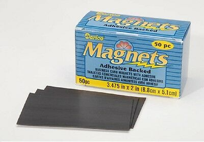 BUSINESS CARD MAGNETS PEEL AND ATTACH Adhesive Back 100pc