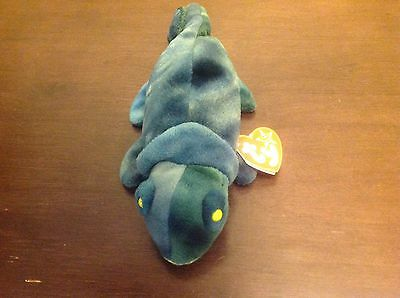 NEW NWT  TY THE BEANIE BABIES COLLECTION RAINBOW DOB 10/14/97 REPTILE- IGUANA