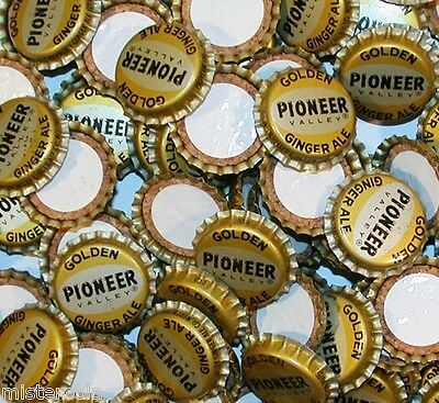 Soda pop bottle caps Lot of 25 PIONEER VALLEY GINGER ALE cork new old stock