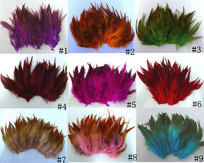 Beautiful!50/100pcs beautiful rooster tail feathers 5-7 inches /10-15cm Crafts