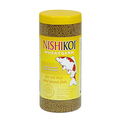 Nishikoi 350G Wheatgerm Small Pellet Fish Food Koi Ponds Goldfish Winter