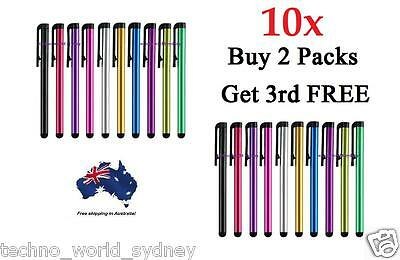 10x Universal Capacitive Stylus Touch Screen Pens for iPhone iPad Galaxy HTC LG