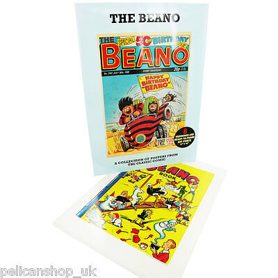 "BEANO 50th BIRTHDAY Classics Illustrate POSTER PACK 8 X 12"" x 16"" PICTURES"
