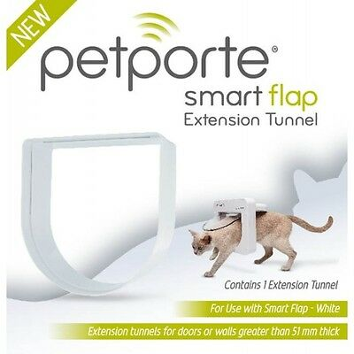Staywell Petporte Smart Cat Flap Microchip Activated Tunnel Extension White