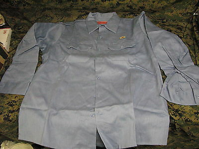 welding shirt flame retardant 100% cotton fire resistant FR us new LARGE REGULAR
