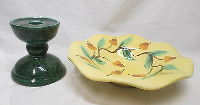 Gail Pitman Bowl and Candlestick Holder - Stack Them To Make a Flower and Stem!