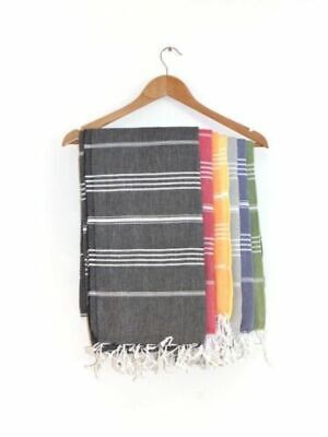 Hammam Turkish Towel 100% Cotton XL 180x99cm Peshtemal Yoga Hamam Pestemal Fouta
