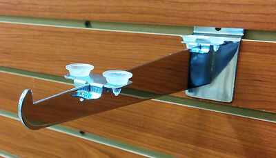 Shelf Rest w/ Snap In Clip & Rubber Cushion for Glass & Wood Shelves - 24 Pieces