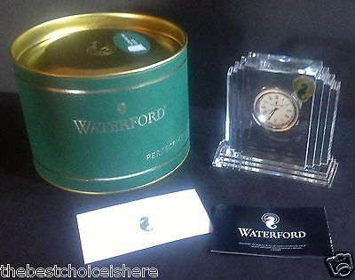 "Waterford Crystal Giftology 4"" Metropolitan Clock - New with Tags and Gift Tin!"