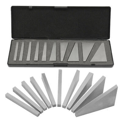 "Angle blocks 1 dec to 30 dec 10 pcs hardened and Ground 1/4"" x 3"" thick plate"