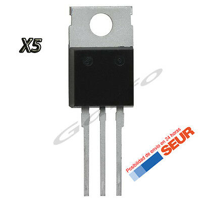 5X Regulador de Tension L7805CV 5V 1,5A 1000mA TO-220