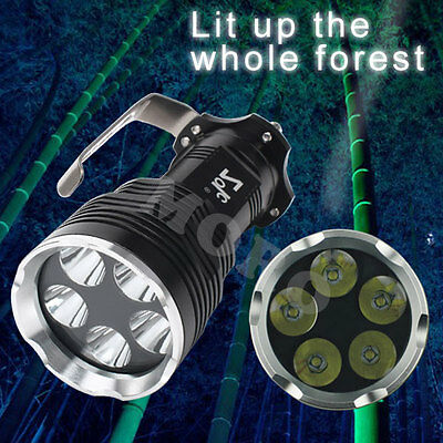 9000Lm 5x CREE XM-L T6 LED High Power Flashlight Torch Lamp Light 18650 Battery