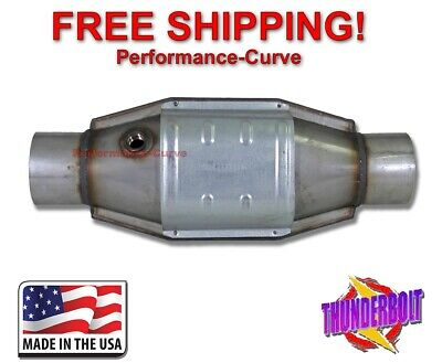 "3"" Catalytic Converter High Flow Universal Exhaust - w/ O2 Sensor Port"