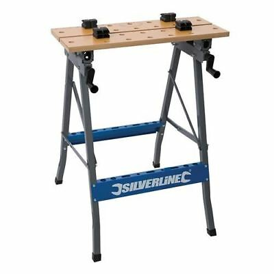 Heavy Duty Foldable Workbench Portable Bench Work Clamping Workmate Diy 150Kg