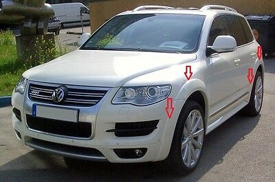 VW TOUAREG mk II 2006 - 2010 R50 look FENDER FLARES / WHEEL ARCH EXTENSIONS