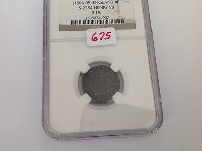 1504-05 England 4P in NGC Holder