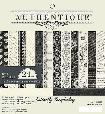 Irresistible Collection 6x6 Scrapbooking Paper Crafting Pad Authentique NEW