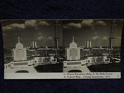 Photo 1933 IL Reception / Federal Buildings &Sky Ride Tower Chicago World's Fair