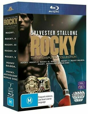 Rocky Heavyweight Collection All 6 Films Blu-Ray 6 Discs Box Set Reg B Sealed