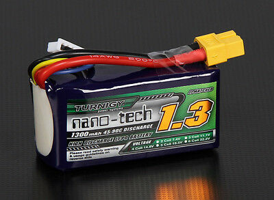 RC Turnigy nano-tech 1300mAh 4S 45~90C Lipo Pack