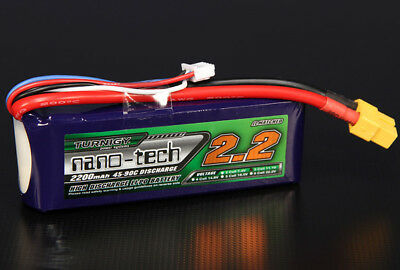 RC Turnigy nano-tech 2200mah 3S 45~90C Lipo Pack
