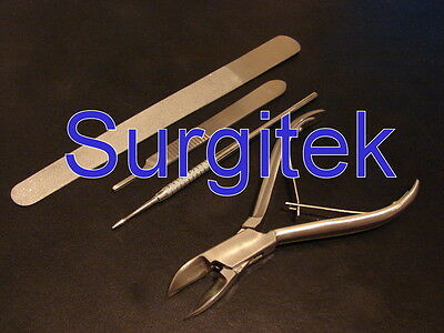 Podiatry - Stainless Steel Instrument Set of 4 Pieces, Chiropody Tools * NEW *