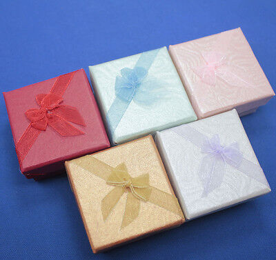 wholesale lot 120 pcs jewelry gift color box display packing box mix color
