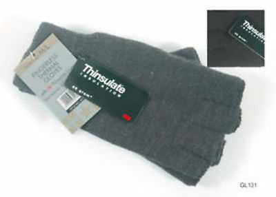 Hombres ' S Thinsulate 3M Thermal Guantes Sin Dedos Negro M/L